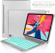 Keyboard Case for iPad Pro 11,130 Degree Rotation, 7 Color Backlit (Silver)
