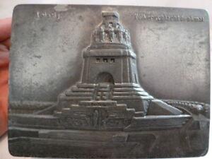 Schatulle Dose Blech Leipzig Völkerschlachtdenkmal antik historisch Souvenir