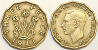 1937 to 1952 George VI Brass Threepence Your Choice of Date / Year Multibuy