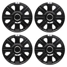 Torque 15 Inch Wheel Trim Set Gloss Black Set of 4 Hub Caps Covers - Toptech