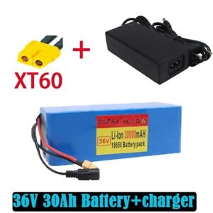 36V 30Ah Lithium Battery Pack 500W Electric Bicycle Scooter BMS Plug + charger