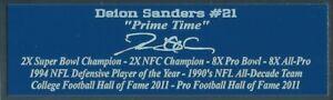 Deion Sanders Autograph Nameplate Dallas Cowboys Autograph Photo Ball Jersey