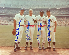 Willie Mickey ( Mantle ) & The Duke + Joe DiMaggio Signed 8x10 reprint