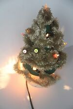 CHALKWARE CHRISTMAS TREE LIGHT UP 1940S HOLIDAY WORKS VINTAGE NOMA DECOR AS IS