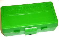 MTM Case Gard™ 50 Round Ammo Box Pistol Flip Top SOLID GREEN P50-45-10 40-45 cal