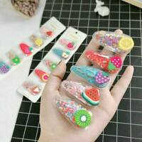 Cute Fruit Hair Clip Snap Hairpin Barrette Headwear Accessories For Kids Women