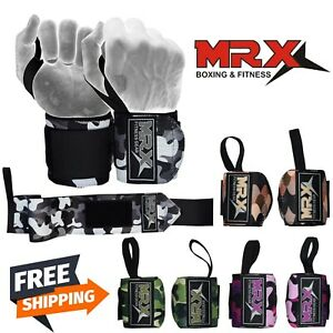 MRX Weight Lifting Wrist Wrap 2X Gym Fitness Workout Crossfit Training Straps