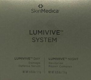 SkinMedica Lumivive Day & Night System 1x 0.25 oz / 7.1g each Travel Size New