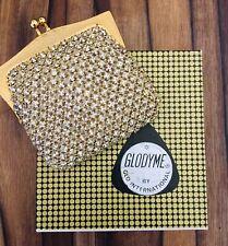 Rare vintage Glodyme by Glomesh diamante rhinestone crystal coin purse in box