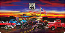 Route 66 Leather Checkbook Cover