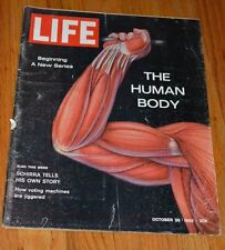 1962 October 26  VTG LIFE Magazine Human Body Pt 1, Vietnam War Voting Machines