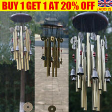 More details for outdoor large wind copper bells chimes garden yard home decor tubes ornament we