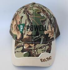 POWELL Industries Camo Baseball Cap Hat Powered by Safety One Size Strapback