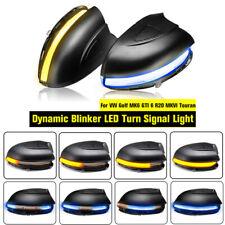 Dynamic Blinker Side LED Turn Signal Light for VW Golf MK6 GTI 6 R20 MKVI Touran