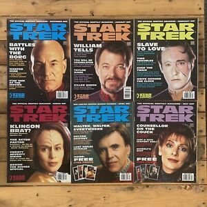Star Trek The Official Monthly Magazine 1995 #22 Thru To #27 6 Issues Troi Data