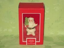 Lenox Ornament ~ Jolly Santa ~ Santa and tree ornament ~ free shipping