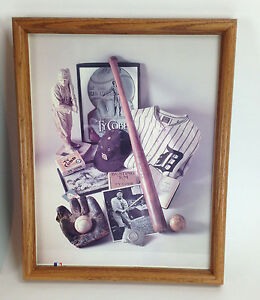No. 8 The Georgia Peach Detroit Tigers Framed First Edition Poster Ty Cobb