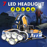 90000LM T6 7LED Headlamp Headlight Flashlight Head Torch Rechargeable Lamp !