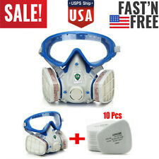 Respirator Facepiece Chemical Full Face Gas Mask Double Filter Painting Spraying