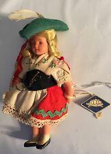 """6"""" German Rheinische Gummi Antique Celluloid doll Turtle Tag Hat Blinking walker"""
