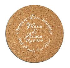 100 Wedding Favor Custom Personalized Cork Drink Coasters NEW Wedding Favors