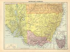 1929 MAP ~ SOUTH-EAST AUSTRALIA ~ NEW SOTH WALES VICTORIA TASMANIA
