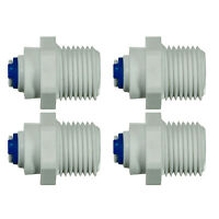 """1/4"""" Push Fit - 1/2"""" BSP Threads  Quick Fitting RO Water Filter - Pack of 4"""