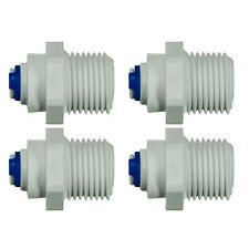 "1/4 ""Push Fit - 1/2"" BSP thread QUICK FITTING RO ACQUA Filtro-Confezione da 4"