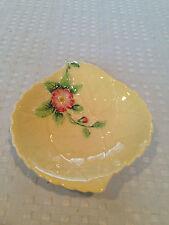 Vintage CARLTON WARE Art-Deco Style WILD ROSE Butter Cruet Dish Bowl Pale Yellow