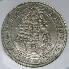 Austria Hall 1698 Leopold Hogmouth Silver Thaler NGC MS62