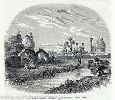 Antique print Isfahan Iran / imam shah mosque 1854 Esfahan holzstich