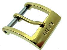 # 365 # rado hebilla cuero-pulsera Buckle Double 12 mm nuevo + Montaje