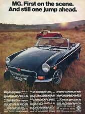 1974 MG First on the Scene And Stilll One Jump Ahead British Leyland Print Ad