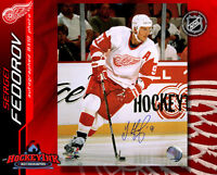 Sergei Fedorov SIGNED Red Wings 8X10 Photo -70377