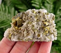 Amazing Quartz with Chalcopyrite, Crystal, Mineral, natural Crystal, Milky Quart