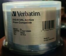 Verbatim 50 Pack Spindle - DRL Archive - 8X DVD-R - Archival 98922 - Prism - New