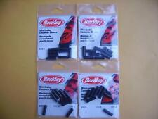 Lot of 4 (36 total) Berkley Wire Leader Connector Sleeves size 6, 210lb