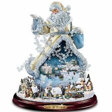 THOMAS KINKADE MUSICAL & LIGHTED SANTA CHRISTMAS  HOLIDAY FIGURINE DECOR NEW