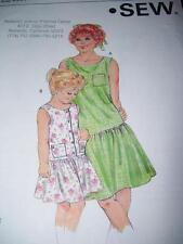 KWIK SEW #1582 - GIRLS CUTE DROP WAIST SLEEVELESS SUMMER DRESS PATTERN  4-7 uc