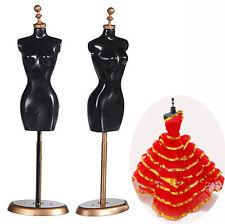 Porte-vêtements en Robe à Rayures pour Porte-manteau Barbie Doll Stent Mannequin