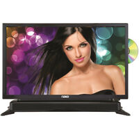 """Naxa 24"""" HD LED TV with DVD Player and Built-in Soundbar in Black"""