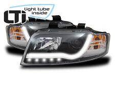 LTi Scheinwerfer Audi A4 8E B6 Bj.01-2004 Schwarz LED Tagfahrlicht O.Light Tube