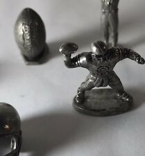 Monopoly NFL Football Miniature Pewter Game Token Lot of 7