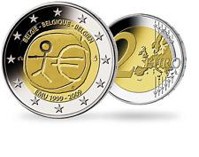 Belgique, Millésime 2009, Monnaie de 2 Euro comém «10 ans de l'Union monétaire»