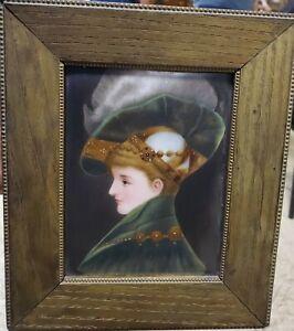 Antique Hand Painted Portrait Miniature on Porcelain KPM? Circa 19th century