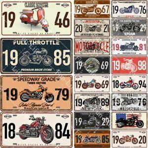 Motorcycle Poster Vintage Tin Signs Metal Retro Plate Board Garage Pub Plaque