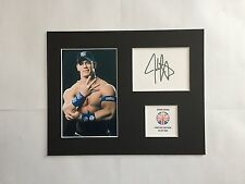 Edición Limitada JOHN CENA Wrestling firmado exhibición de montaje Wwe