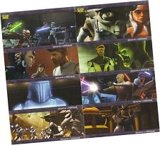 "Star Wars Clone Wars Season 1 Wide: 8 Card ""Season 2 Preview"" Chase Set PV1-PV8"