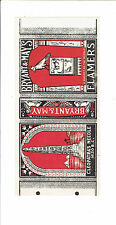 1 Old Bryant & May's c1900  matchbox label for Cleopatra's Needle size 134x64mm.