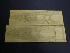 Pontos Model 1/350 HMS King George V Wooden Deck set & Dry Transfer for Tamiya